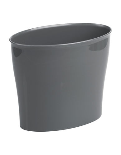 Interdesign Inc Nuvo Plastic Waste Can-SLATE-One Size