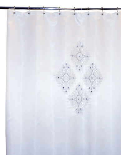 Famous Home Fashions Inc. (Dd) Jewel White Shower Curtain-WHITE-One Size