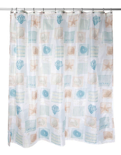 Famous Home Fashions Inc. (Dd) Seaside Shower Curtain-WHITE-One Size
