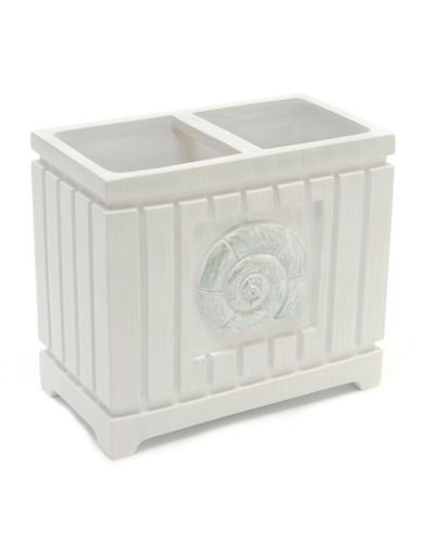 Famous Home Fashions Inc. (Dd) Seaside Toothbrush Holder-WHITE-One Size