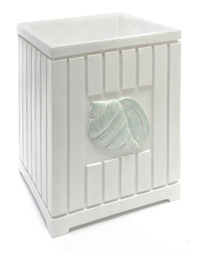 Famous Home Fashions Inc. (Dd) Seaside Waste Basket-WHITE-One Size