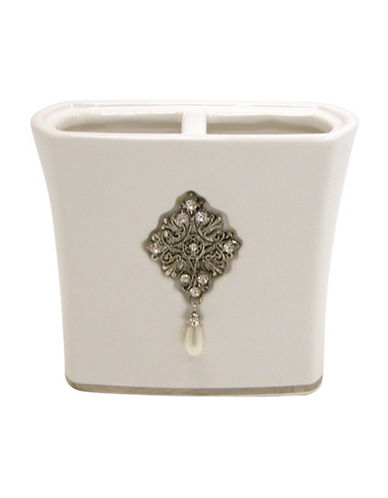 Famous Home Fashions Inc. (Dd) Jewel Toothbrush Holder-WHITE-One Size