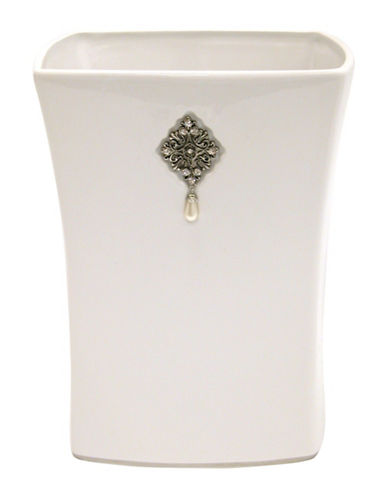 Famous Home Fashions Inc. (Dd) Jewel Waste Basket-WHITE-One Size
