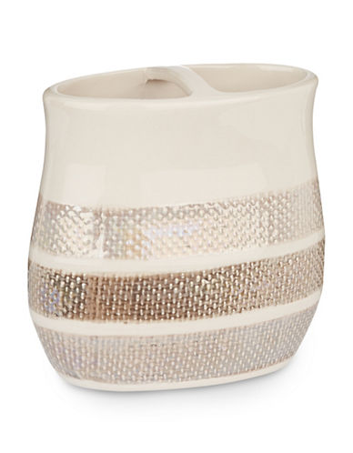Famous Home Fashions Inc. (Dd) Mesmerize Toothbrush Holder-TAUPE-One Size