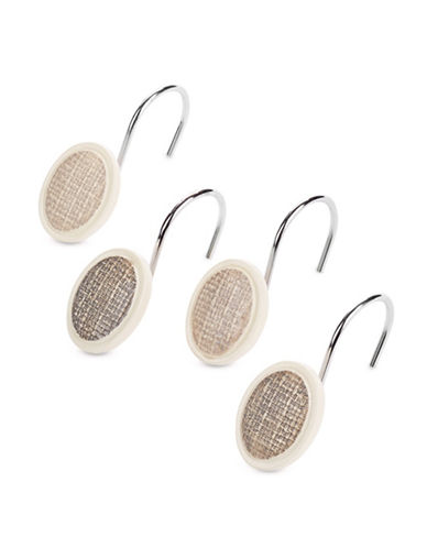 Famous Home Fashions Inc. (Dd) 12-Pack Mesmerize Shower Curtain Hooks-TAUPE-One Size