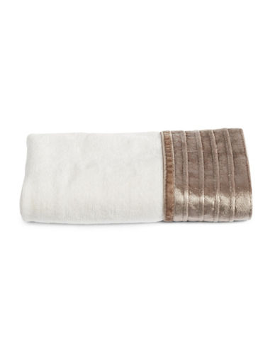 Famous Home Fashions Inc. (Dd) Pleated Trim Hand Towel-TAUPE-Hand Towel