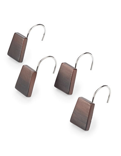 Famous Home Fashions Inc. (Dd) Set of Twelve Veruka Shower Curtain Hooks-BROWN-One Size
