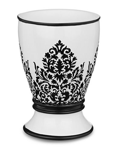 Famous Home Fashions Inc. (Dd) Essence Damask Tumbler-BLACK-One Size