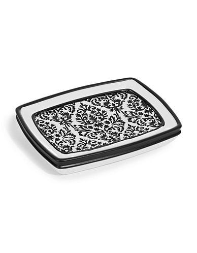Famous Home Fashions Inc. (Dd) Essence Damask Soap Dish-BLACK-One Size