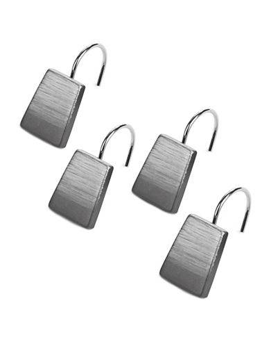 Famous Home Fashions Inc. (Dd) 12-Piece Alys Grey Shower Curtain Hook Set-GREY-One Size