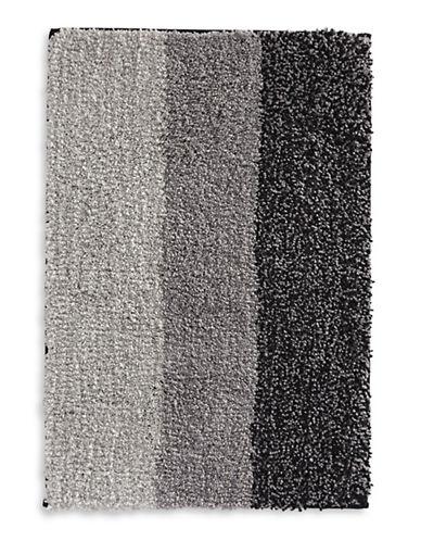 Famous Home Fashions Inc. (Dd) Alys Grey Stripe Bath Mat-GREY-Bath Mat