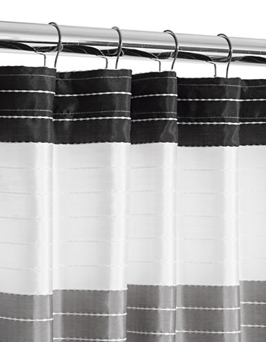 Famous Home Fashions Inc. (Dd) Ambrosi Shower Curtain-BLACK-One Size
