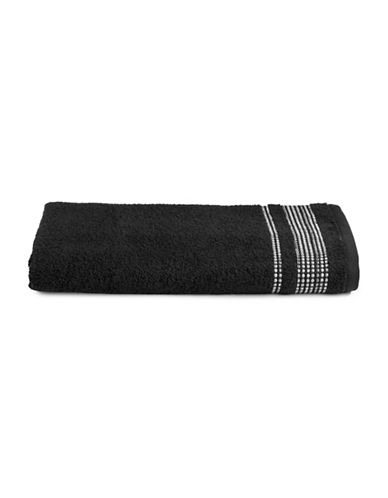 Famous Home Fashions Inc. (Dd) Ambrosi Bath Towel-BLACK-Bath Towel