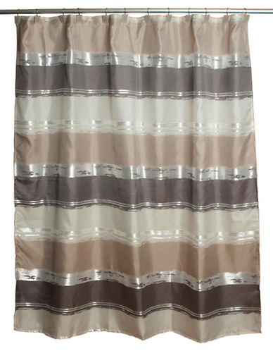 Famous Home Fashions Inc. (Dd) Alta Stripe Shower Curtain-TAUPE-One Size