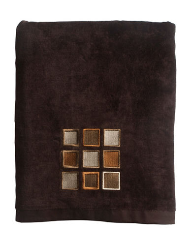 Famous Home Fashions Inc. (Dd) Modena Embroidered Bath Towel-BROWN-Bath Towel