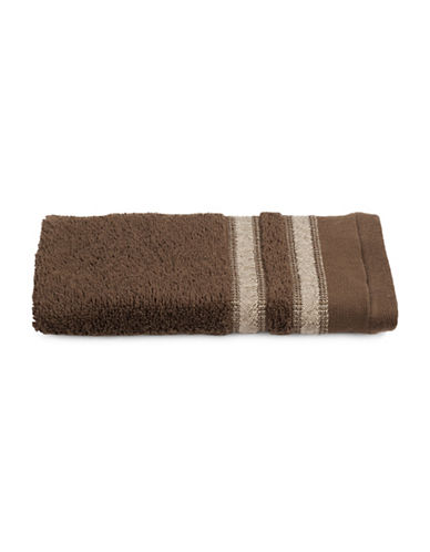 Famous Home Fashions Inc. (Dd) Cotton Fingertip Towel-BROWN-Finger Tip Towel