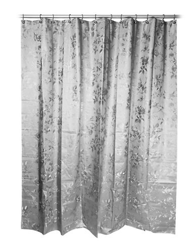 Famous Home Fashions Inc. (Dd) Etched Rose Peva Shower Curtain-GREY-One Size