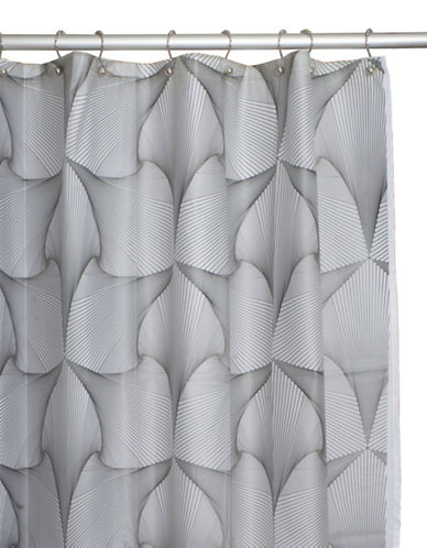 Famous Home Fashions Inc. (Dd) Kimono Shower Curtain-CLEAR/BLACK-One Size