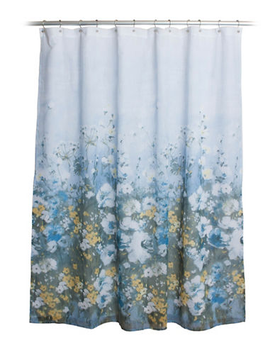 Famous Home Fashions Inc. (Dd) Anna Floral Shower Curtain-BLUE-One Size