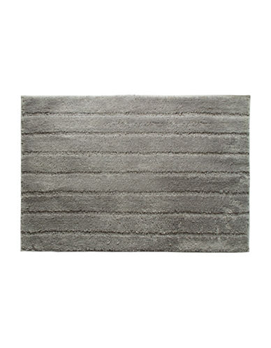 Famous Home Fashions Inc. (Dd) Basico Textured Bath Mat-GREY-Bath Mat