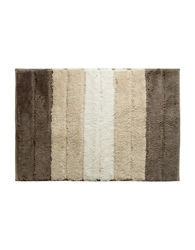 Famous Home Fashions Inc. (Dd) Lino Striped Bath Mat-EARTH-Bath Mat