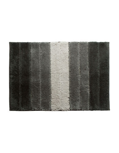 Famous Home Fashions Inc. (Dd) Lino Striped Bath Mat-GREY-Bath Mat