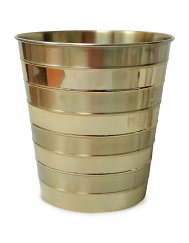 Famous Home Fashions Inc. (Dd) Nola Waste Basket-GOLD-One Size