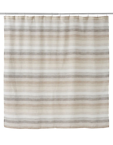 Famous Home Fashions Inc. (Dd) Horizon Shower Curtain-BROWN-One Size