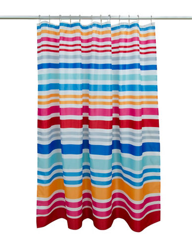 Dh Vibe Stripe Shower Curtain-MAGENTA-One Size