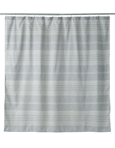 Famous Home Fashions Inc. (Dd) Liam Jacquard Shower Curtain-BLUE-One Size