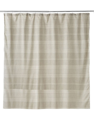 Famous Home Fashions Inc. (Dd) Liam Jacquard Shower Curtain-BROWN-One Size