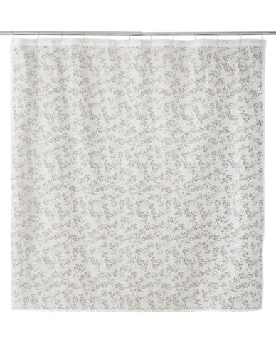 Famous Home Fashions Inc. (Dd) Alexa Burnout Shower Curtain-WHITE-One Size