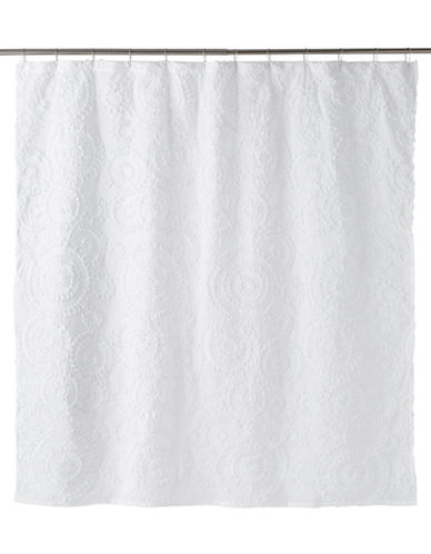 Famous Home Fashions Inc. (Dd) Belle Circular Shower Curtain-WHITE-One Size