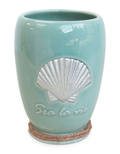 Famous Home Fashions Inc. (Dd) Sea La Vie Ceramic Tumbler-BLUE-One Size