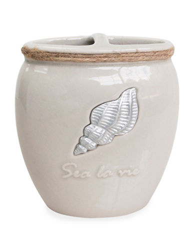 Famous Home Fashions Inc. (Dd) Sea La Vie Ceramic Toothbrush Holder-BEIGE-One Size