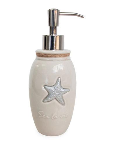 Famous Home Fashions Inc. (Dd) Sea La Vie Ceramic Lotion Pump-BEIGE-One Size