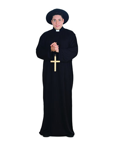 Rubies Costumes Adult Plus Size Priest Costume-BLACK-XX-Large