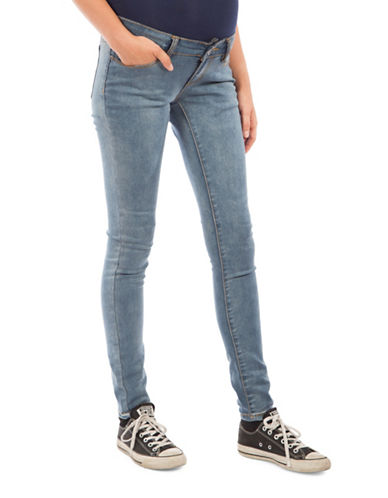 Modern Eternity Maternity Lea Skinny Jeans-MEDIUM BLUE-28