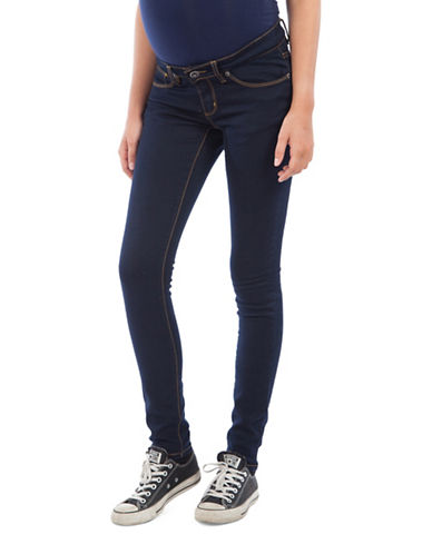 Modern Eternity Maternity Lea Skinny Jeans-DARK BLUE-27