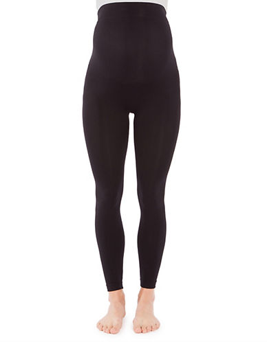 Modern Eternity Maternity Jenny Seamless Leggings-BLACK-X-Small