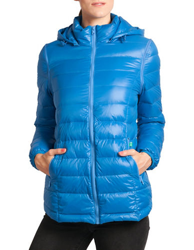 Modern Eternity Lola 5-in-1 Lightweight Down Maternity Jacket-LIGHT BLUE-X-Small