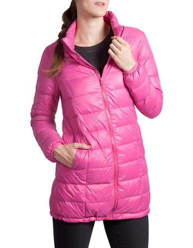 Modern Eternity Savannah Lightweight Maternity Jacket-RASBERRY-Small