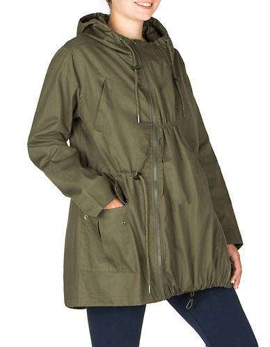 Modern Eternity Maternity Lara 3-in-1 Semi-Fitted Jacket-GREEN-X-Large