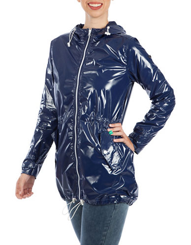Modern Eternity Maternity Kate 3-in-1 Waterproof Raincoat-BLUE-Medium