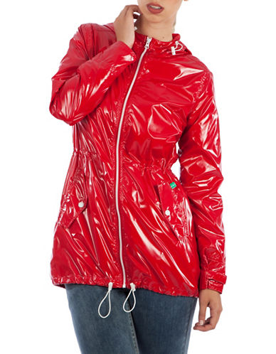 Modern Eternity Maternity Kate 3-in-1 Waterproof Raincoat-RED-Medium