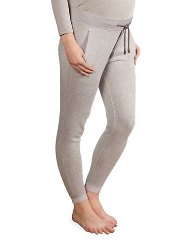 Modern Eternity Kristina French Terry Maternity Joggers-BLACK-Medium
