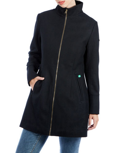 Modern Eternity Maternity Brittany 3-in-1 Semi-Fitted Wool-Blend Coat-BLACK-Medium