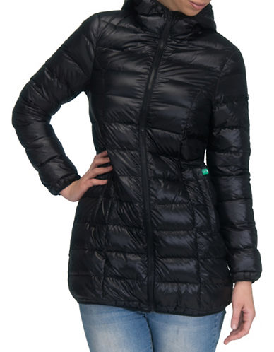 Modern Eternity Rachel 3-in-1 Lightweight Down Maternity Jacket-BLACK-X-Small