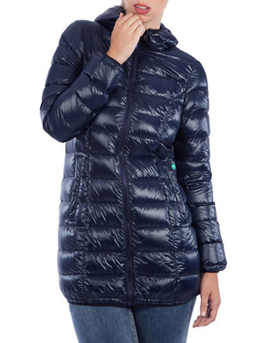 Modern Eternity Rachel 3-in-1 Lightweight Down Maternity Jacket-NAVY-Small