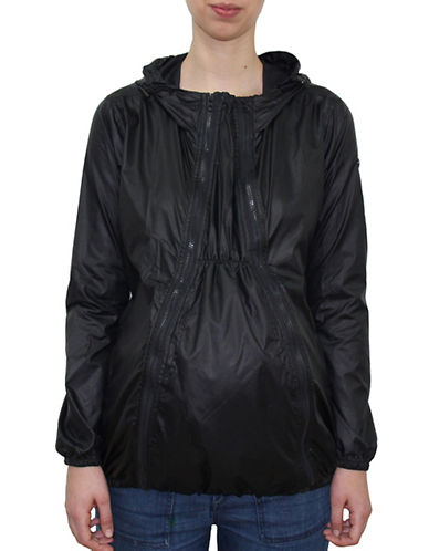 Modern Eternity Ciara 3-In-1 Waterproof Maternity Windbreaker Jacket-BLACK-X-Small